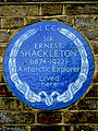 SIR ERNEST SHACKLETON (1874-1922) Antarctic Explorer Lived here.jpg