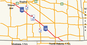 Saskatchewan Highway 39 - Image: SK Highway 39Map