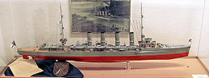 Magdeburg-class cruiser - Model of a Magdeburg-class cruiser in the Marinemuseum in Dänholm