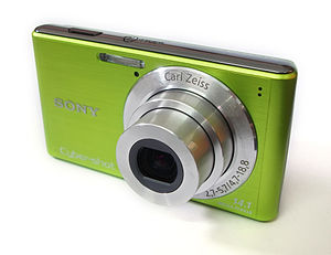 Cyber-shot - An example of a digital camera in the Cyber-shot line.