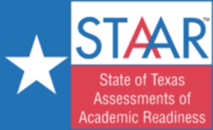 State of Texas Assessments of Academic Readiness - The official STAAR logo. The logo is mainly based on the design of the Texas flag.