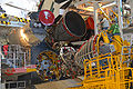 STS-130 Endeavour main engine installation.jpg