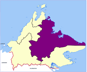Sandakan Division - Location map of the Sandakan Division.