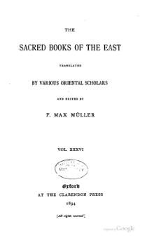 Sacred Books of the East - Volume 36.djvu