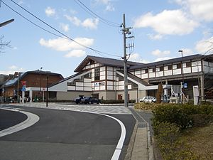 Saga Arasiyama, minamiguti, West Japan Railway, 20090315.jpg
