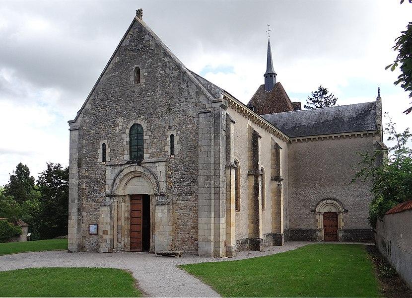 Church of St. Patrice de Saint-Parize-le-Châtel, Nièvre, France.