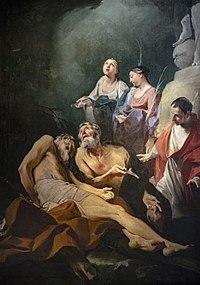 Saint Andrew among the Saints Batholomew, Carlo Borromeo, Lucy and Apollonia 1710-16 - Frederico Bencovich, Senonches, France.jpg