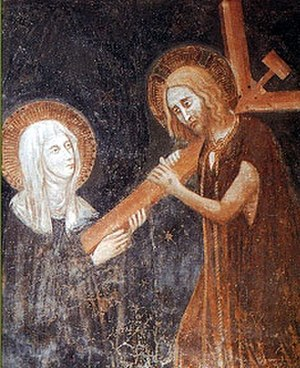Clare of Montefalco - Christ implanting his Cross in the heart of Saint Clare of Montefalco