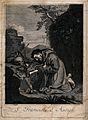Saint Francis of Assisi. Engraving after G. Reni. Wellcome V0032042.jpg