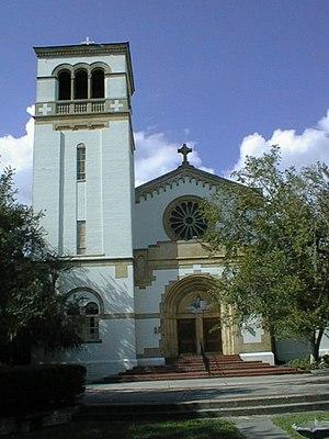 Saint Leo University - The St. Leo Benedictine Abbey Church is located at University Campus.  Saint Leo is affiliated with the Roman Catholic Church.