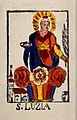 Saint Lucy. Coloured lithograph (?). Wellcome V0033324.jpg
