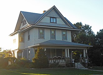 National Register of Historic Places listings in Brown County, Kansas - Image: Samuel Bierer House Hiawatha, KS