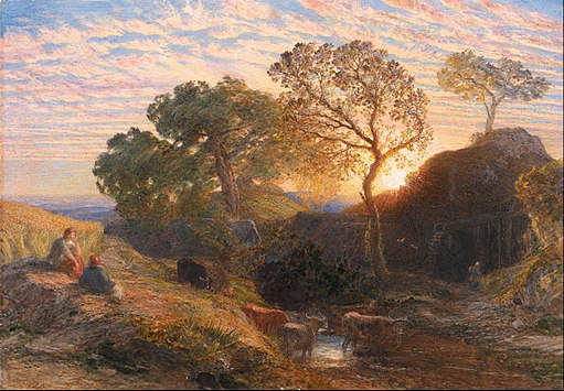Samuel Palmer - Sunset - Google Art Project