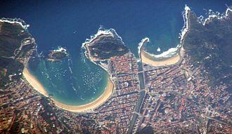 Bay - The bay at San Sebastián, Spain