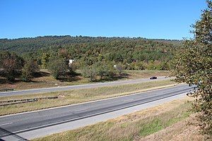 Sand Mountain (Alabama) - Sand Mountain viewed from Trenton, Georgia
