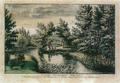 Sanderumgaard 06 of 12 Udsigt i Hauge koloreret 1800 Clemens.png