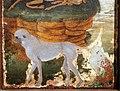 Sandro botticelli, giuditta con la testa di oloferne, sul retro una composizione araldica con cervi e scimmia, 1470 ca. 05.jpg