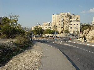 Sanhedria Murhevet - The entrance square to Sanhedria Murhevet.