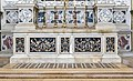 Santa Giustina (Padua) - Left nave – Chapel of St. Gregory the Great – Altar in polychrome stones.jpg