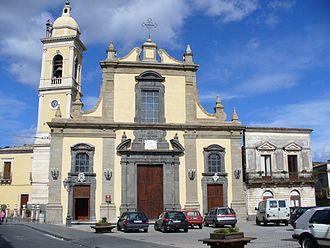 Linguaglossa - the Chiesa Madre of Santa Maria delle Grazie in lava stone