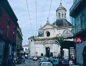 Melito di Napoli - The main church in the central square