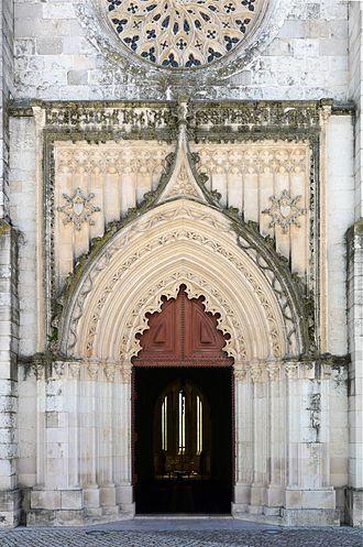 Santarém, Portugal - Main portal of Igreja da Graça