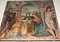 Santuario di cigoli, fra paolino (attr.), annunciazione tra i santi rocco e sebastiano.JPG