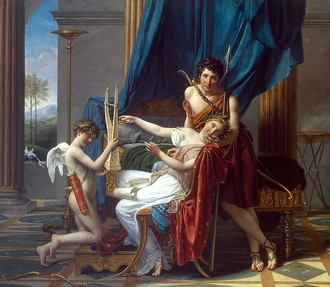 Moika Palace - Sappho and Phaon. A painting by Jacques-Louis David from the Yusupov collection in the Moika Palace