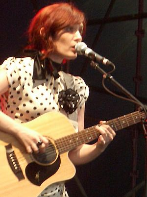 Sarah Blasko - Blasko singing and on acoustic guitar, Big Day Out, Melbourne, January 2006