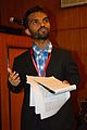 Saurabh Das - Presentation - Understanding the Role of Hashtags as a News Filter a Case Study of the 2014 Gaza Conflict - Bengali Wikipedia 10th Anniversary Celebration - Jadavpur University - Kolkata 2015-01-09 3003.JPG