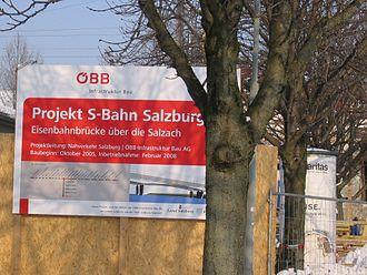 Salzburg S-Bahn - S-Bahn under construction.