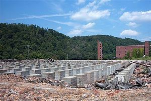 Schenley, Pennsylvania - Foundation of a demolished building in the Industrial Park
