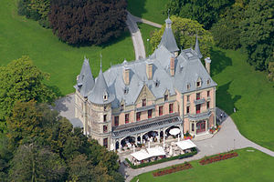 Schadau Castle - Schloss Schadau from the sky