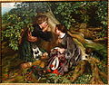 Scottish Lovers by Daniel Maclise, 1863, oil on canvas - Chazen Museum of Art - DSC02365.JPG
