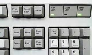 Scroll lock computer key