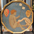 Scuola fiorentina, desco da parto, 1420 ca, diam. 51, coll. privata 02.JPG