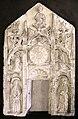 Scuola forse veneta, tabernacolo con annunciazione sante, xv secolo, forse dalla pieve di san floriano a vr.jpg