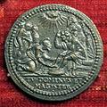 Scuola romana, medaglia di innocenzo IX, 1591, lavanda dei piedi.JPG