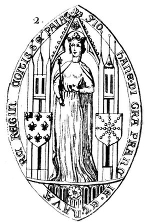 Joan II, Countess of Burgundy - The seal of Joan II