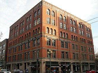William E. Boone - J.M. Frink (Now known as Washington Shoe) Building. The top 2 floors were a later addition