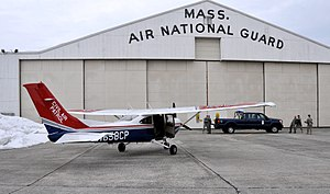 "Massachusetts Wing Civil Air Patrol - Members of the Massachusetts Wing are ""apprehended"" by security forces during an intercept training mission."