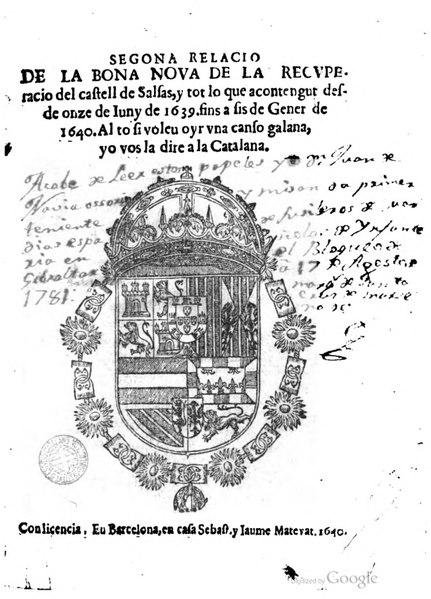 File:Segona relacio de la bona nova de la recvperacio del castell de Salsas (1640).djvu