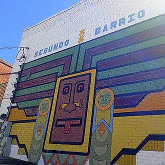 El Segundo Barrio - Segundo Barrio, (1975) by Los Muralistas Del Barrio, Arturo Avalos, Gabriel Ortega, Pablo Schaffino and Pascual Ramirez