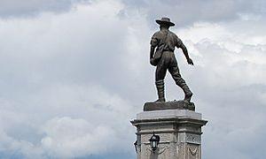 La Baie, Quebec - A monument dedicated to the Société des vingt et un