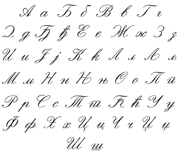 Serbian writing style around 1900, now partially incorrect.png