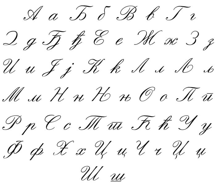 fileserbian writing style around 1900 now partially