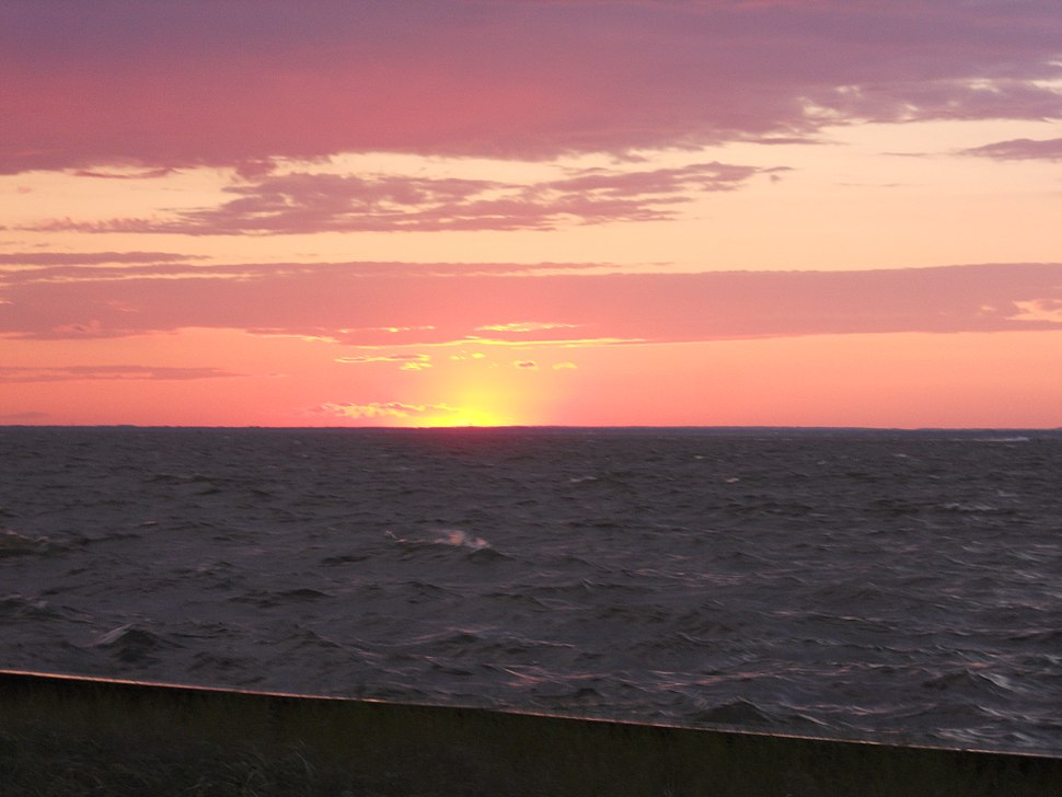 Setting sun over Great South Bay