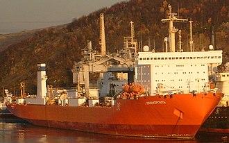 Nuclear-powered icebreaker - Sevmorput, a nuclear-powered icebreaking carrier