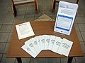 Sexual assault awareness month display (table) (3429874046).jpg