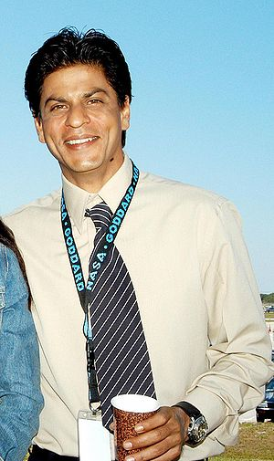 Shahrukh Khan during filming at Kennedy Space ...
